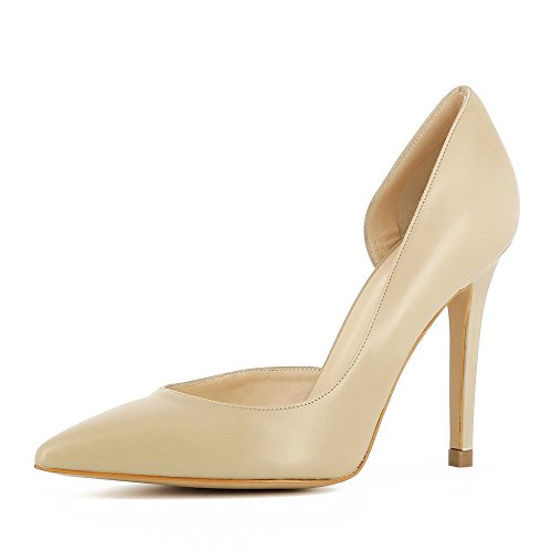 Evita Shoes Alina Damen Pumps halboffen Glattleder Beige 35