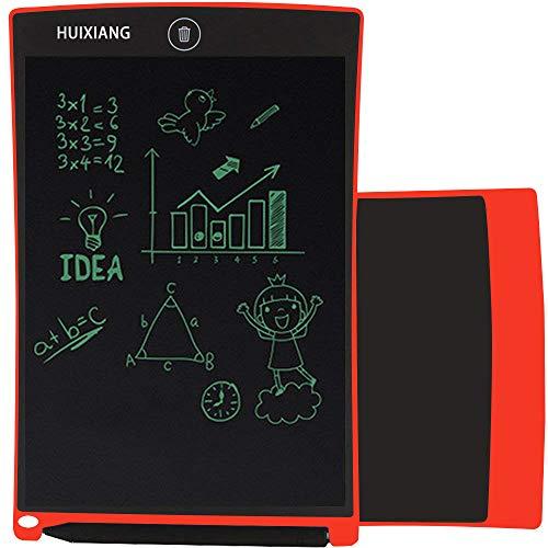 Tavolette per Scrittura LCD 8.5 Pollici Elettronica Cancellabile Lavagna Digitale Scrittura eWriter Writing Tablet Disegno Pad Regali di Natale per bambini di 3+, 6 a 12 anni Ragazzi Ragazze (Rosso)