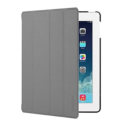 EasyAcc Hülle für iPad 4 iPad 3 iPad 2, Ultra Dünn Schutzhülle mit Ständer Funktion eingebautem Magnet Einschlaf/Aufwach Kompatibel für iPad 2/3/4 - Grau