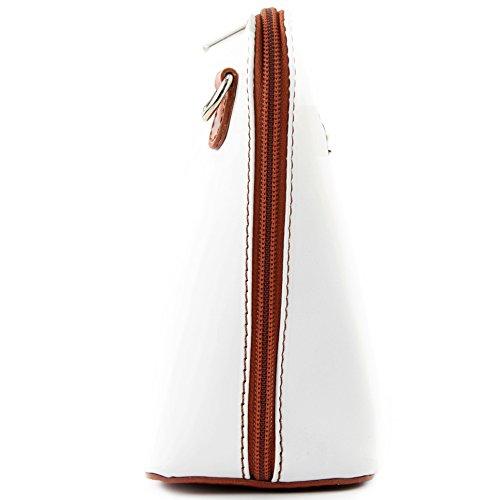 piccole bovina T94 borsa Città ital Camel bag Weiß modamoda tracolla pelle de signore in borsa w7XPU