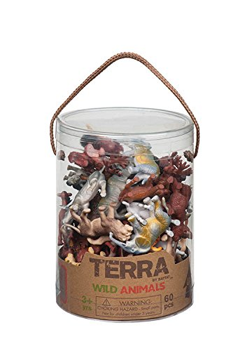 Battat Terra by AN6004Z - Wild Animal Toys in a Tube (60 Pieces)