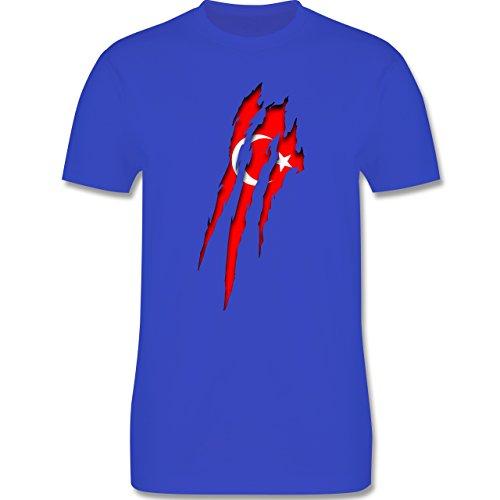 Länder - Türkei Krallenspuren - Herren Premium T-Shirt Royalblau