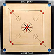 SKY GOLD Matte Finish Carrom Board with Coins, Striker and Powder (32 inches)
