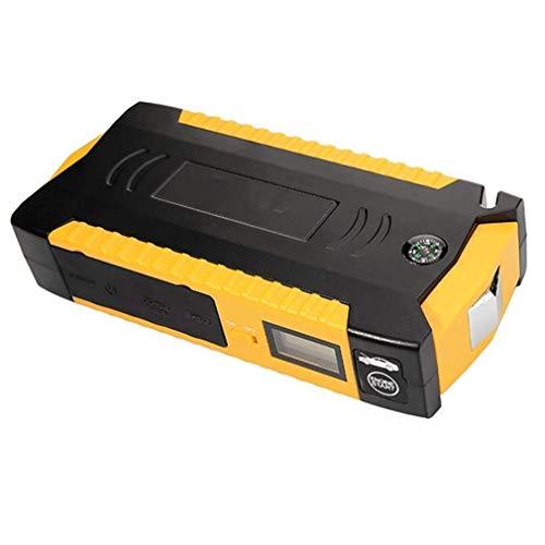 GGO Multifunktionale 600A Peak 18000Mah Auto Jump Starter Notstrom Bank Tragbares Ladegerät mit USB-Ports Battery Booster Pack Smart Eingebaute Taschenlampe LED-Anzeige