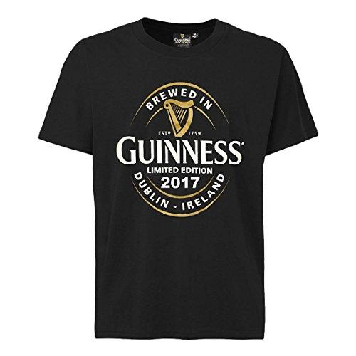 t-shirt-avec-imprim-tiquette-de-bouteille-guinness-brewed-in-dublin-couleur-noire