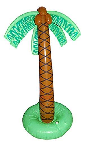 e aufblasbare Palme Hoola Aloha Strandparty Dekoration Standpalme, 180cm, Mehrfarbig ()