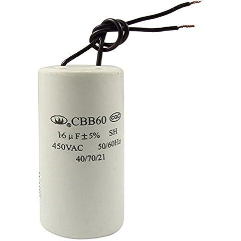 CBB60 CA 450V 16uF cableado Motor Inicio ejecutar SH condensador 50/60Hz
