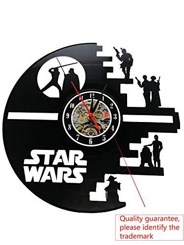 r Wars Death Star entworfen LP Record Wanduhr ()