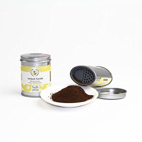Natur Vanillepulver 20g/gemahlene Vanille Schoten/vom Vanille Shop/ideal zum Backen und - Der Dose Hamburger Aus