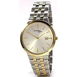Adora Saphir A543GBC Men's Watch Bracelet Sapphire Crystal Bicolor