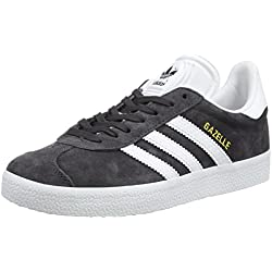 adidas Originals Gazelle, Zapatillas Unisex Adulto, Negro (Utility Black /ftwr White/Gold Met.), 40 EU