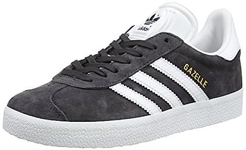 adidas Gazelle, Baskets Basses Femme, Noir (Utility Black /ftwr White/gold Met.), 40 2/3 EU
