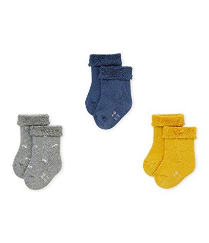 Petit Bateau CHAUSSETTES Chaussettes Bébé fille Multicolore (Variante 1 99) 0-3 mois (Taille fabricant: P15 POINTURE 15/18 (NAI/3MOIS)) 3lot de3