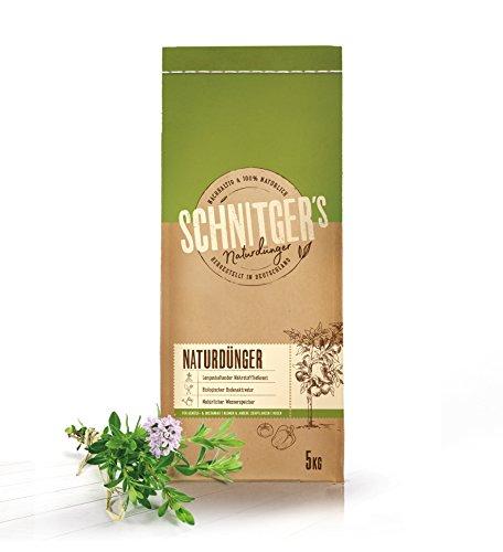 Naturdünger | hochwertiger Dünger von SCHNITGER's | als Blumendünger, Gemüsedünger, Kräuterdünger und Bodenaktivator | Biodünger aus Deutschland | nachhaltig | 5kg