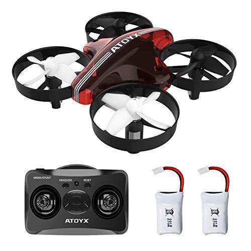 ATOYX AT-66 Mini Drohne, RC Quadrocopter Kopflos Modus Stabiler Flug Helicopter Ferngesteuert Mit Spielzeug Drone für Anfänger und Kinder (Rot)