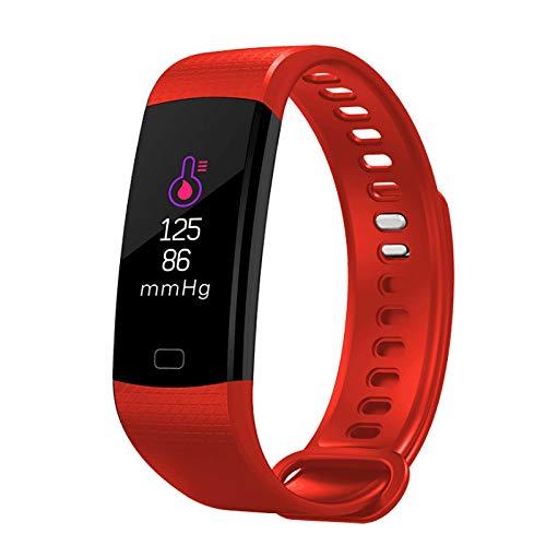 n smart Bracelet Heart Rate Blood Oxygen Monitoring Step Counter Waterproof 96 Color Screen Message Push Bluetooth Sports Bracelet ()
