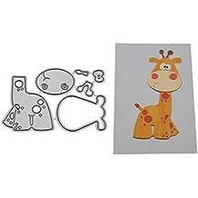 zmigrapddn Troqueles,Diseño de jirafa animal Troqueles de corte plantilla moldes para hacer álbumes de