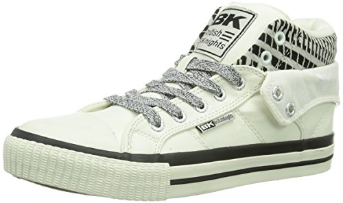 British Knights ROCO Damen Hohe Sneakers Weiß (White-Black01)
