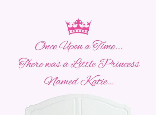 Once Upon a Time Princess Katie grands stickers muraux/autocollant Chambre Art Fille/bébé