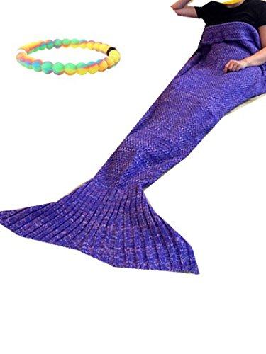 Meerjungfrau Schwanz Decke, Mermaid Schlafsack, Meerjungfrau – Soft alle Jahreszeiten Decke Decken, Beautiful Dream