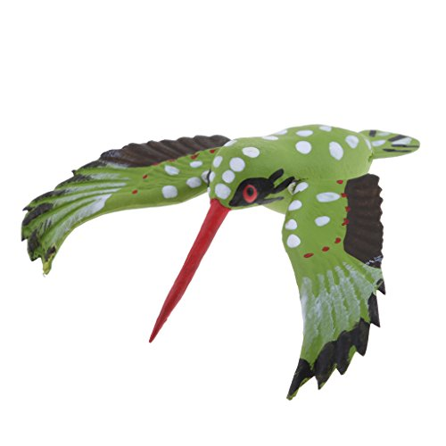 non-brand Sharplace Percha de Maceta Ornamento de Patio Frontones Decorativos Dosificadores de aliño Especias - Colibrí