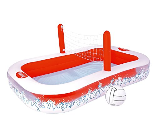 54125 Piscina inflable con red para voleibol niños Bestway 253x168x97