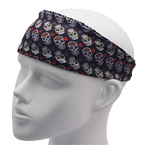 Wolken Einhorn Lustige Stirnbänder für Erwachsene - breites Haarband - Geschenk für Frau - Erwachsene Stirnband - Stirnband Frauen - Stirnband Haarbänder, Sugar Skull, Standard ()