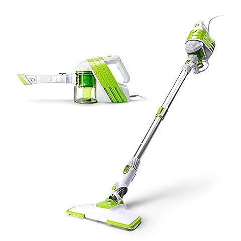 PUPPYOO Handheld Stick Vacuum Cleaner Light Bagless Corded Vac White/Green WP521