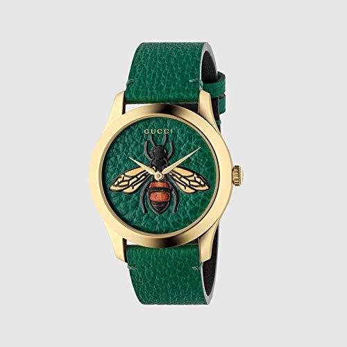 Reloj Gucci G-Timeless 38mm Caso de Oro Correas Verde YA1264065