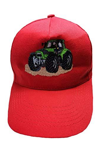 Zintgraf Cap Baseball Kappe Traktor Stickerei grüner Trecker graue Felgen (rot)