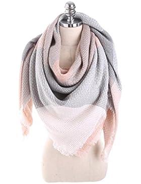 Lenfesh - Bufanda Para Mujer Caliente Mantas bufanda Invierno Chal de Cachemira Bufandas Mujer - Elegante y Suave...