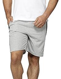 Perroni Men's Cotton Blend Material Smart Fit Cotton Shorts, Light Grey