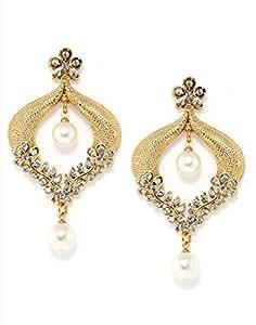 Bindhani Gold-Plated Dangle & Drop Earrings For Women