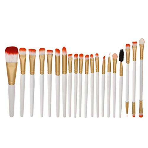 Pinceaux Maquillage, Tonsee 20Pcs Pro cosmétiques maquillage pinceau outils Blanc