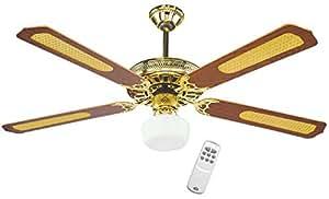 DCG TP-RMA8-6N22 Ventilatore a Soffitto in Legno a Soffitto con Telecomando