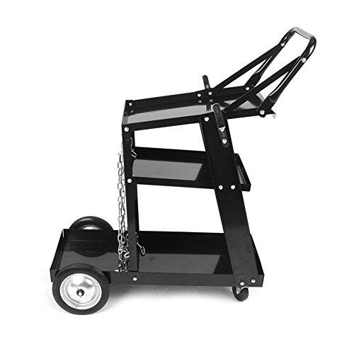 Trolley Welding Tool Mobile Trolley Unterstützung, 3-lagig Mehrzweck, mit Rädern und Griff
