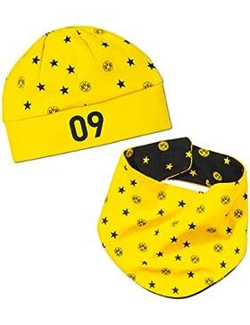 Borussia Dortmund BVB-Babyset Mütze und Halstuch (schwarz-gelb)