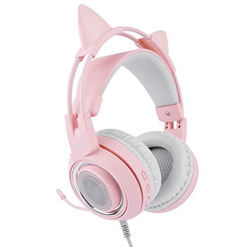 HUAXING Gaming Headset, Over-Ear Gaming Kopfhörer mit Mikrofon, Bass Stereo Surround Sound Lautstärkeregler, 3,5 mm Klinke, kompatibel mit PS4 Pro / PS4 Xbox Nintendo Switch PC Laptop Tablet