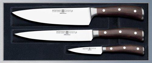 Wüsthof TR9600 Ikon Coffret 3 Couteaux de Cuisine