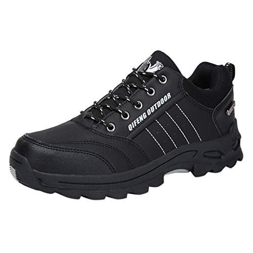Herren Trekking-& Wanderhalbschuhe rutschfeste Atmungsaktiv Outdoor-Schuhe Bequem Verschleißfest Wanderschuhe Reiseschuhe Laufschuhe Wasserdicht Freizeitschuhe Fitnessschuhe 39(Schwarz)