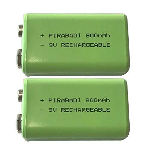 Pack 2batteria 9V Ricaricabile 800mAh 6LR616F22Ni-MH NiMH accu batteria   Grande Capacità   alta qualità   telecomando   Robot giocattolo   lampada   MP3MP4etc.