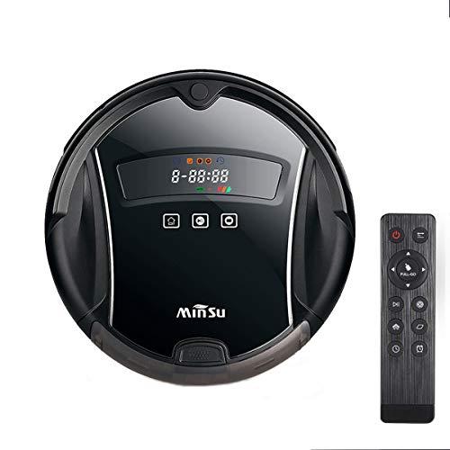 Robot Aspirateur, Charge Automatique, Télécommande, Forte Succion, Technologie De Détection De Chutes, 4 Modes De Nettoyage