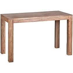 Wohnling diseño de mesa de comedor de madera maciza de 120 x 60 x 76 cm de madera de acacia WL1, 442