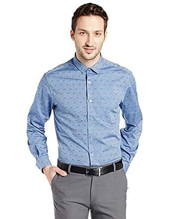 Indigo Nation Men's Formal Shirt (8907372632292_1ISE384238_38_Blue)