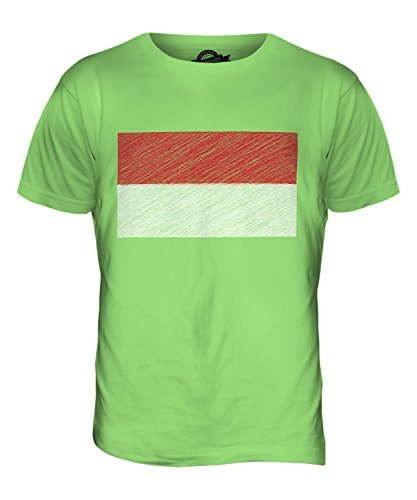 CandyMix Monaco Kritzelte Flagge Herren T Shirt Limettengrün