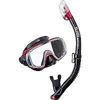 Visio Tri EX Máscara y Snorkel conjunto, Black/Metallic Red