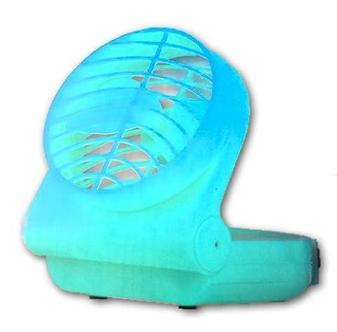 Tragbarer Ventilator mit Klappfunktion in Hellblau 12,5cm Kühler Raum-Lüfter Luft-Erfrischer Lüftung