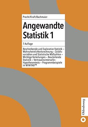 Angewandte Statistik 1 Beschreibende und Explorative StatistikWahrscheinlichkeitsrechnung – Zufallsvariablen und Statistische Maßzahlen –Wichtige ... - Programmbeispiele in MINITAB