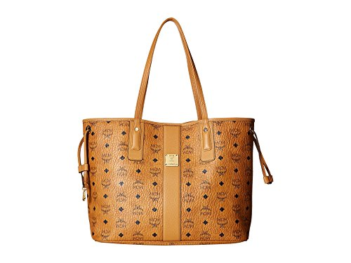 MCM Damen Reversible Shopper Project Visetos Medium Cognac