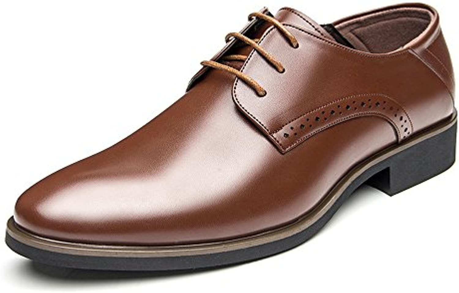 Jiuyue shoes  Sommer 2018 Herren Business PU Lederschuhe Glatt Lace up Oxfords (Atmungsaktiv Loch Optional) (Color